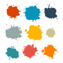 Colorful Retro Vector Stains, ...