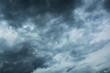 Leinwandbild Motiv Dark clouds horrifying