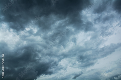 Foto op Canvas Hemel Dark clouds horrifying