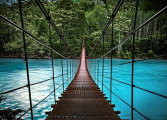 Fototapetasuspension bridge