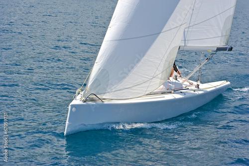 Garden Poster Sailboat in action