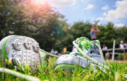 Fotografie, Obraz  Leichtathletik Meeting Sportfest Spikeschuhe Spikes Schuhe