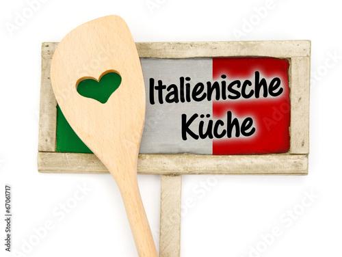 Italienische Küche Wall mural