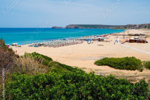 Beach in Sardinia Canvas Print
