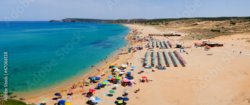 Crowded beach in Sardinia Wallpaper Mural