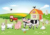 Das Leben der Tiere auf dem Lande