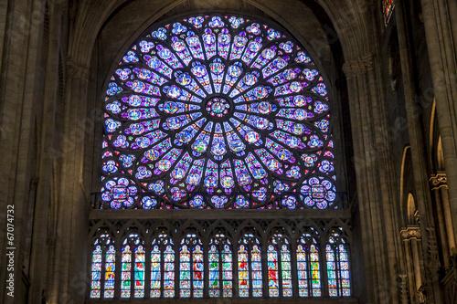 Fotografia  Interior of Cathedral Notre Dame - Paris.