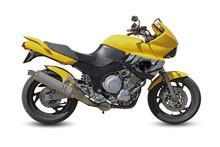 Moto De Course Jaune