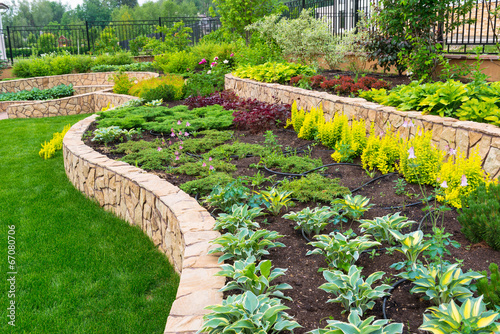 Photo sur Toile Cappuccino Natural landscaping in home garden