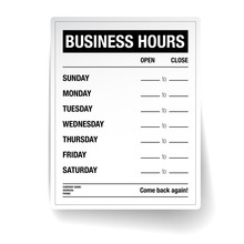 Business Hours Vector Template