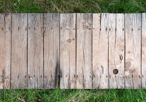 Obraz na płótnie Old elevated rural boardwalk