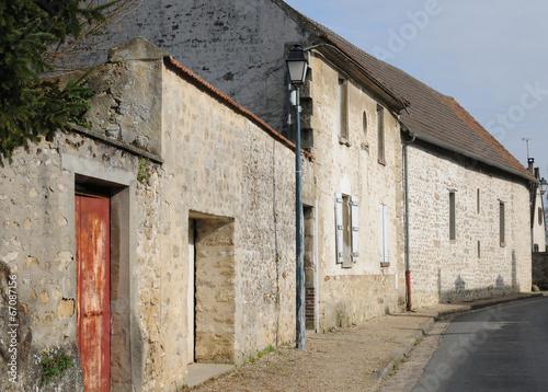 Papiers peints Les vieux bâtiments abandonnés France, the picturesque village of Themericourt