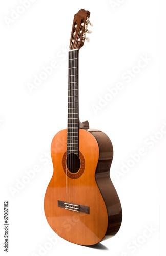 Fotografie, Obraz  chitarra classica in fondo bianco