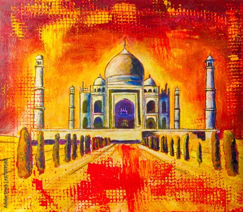 Taj Mahal Ölgemälde Gemälde Kunstdruck artprint Kunst