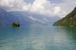 canvas print picture swiss lake island