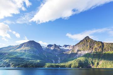 Fototapeta góry w północnej Norwegii