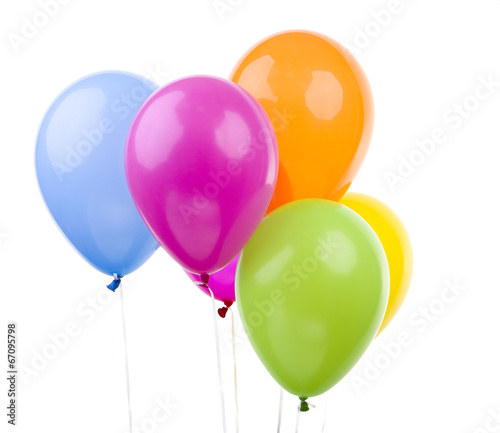 Deurstickers Ballon Colorful Balloons on White Background