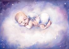 Sleeping Angel.Watercolors