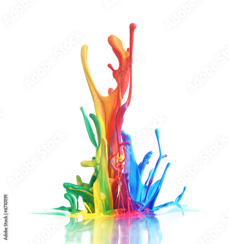 Acrylic Prints Form Colorful paint splashing