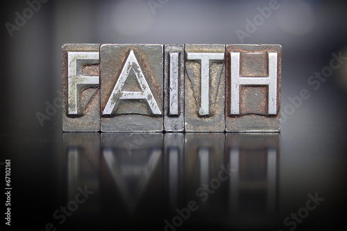 Faith Letterpress Wallpaper Mural