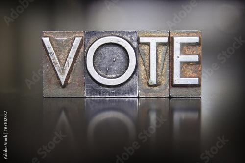 Fotografie, Obraz  Vote Letterpress