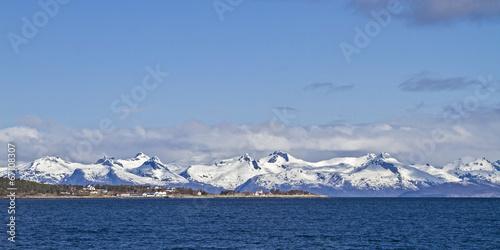 Staande foto Scandinavië Am Tysfjorden