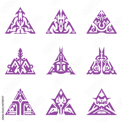 Triangular Sigils Wallpaper Mural