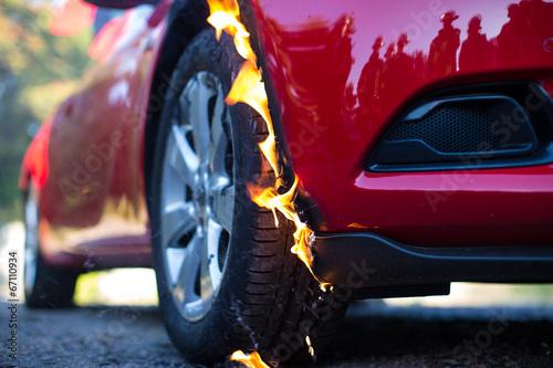 Valokuva  Reifenbrand