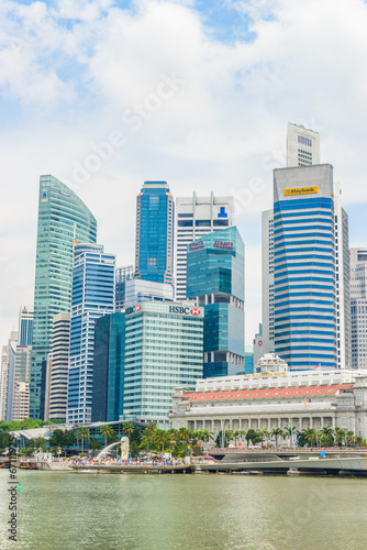 Staande foto Asia land SINGAPORE - JUNE 22: Urban landscape of Singapore. Skyline and m