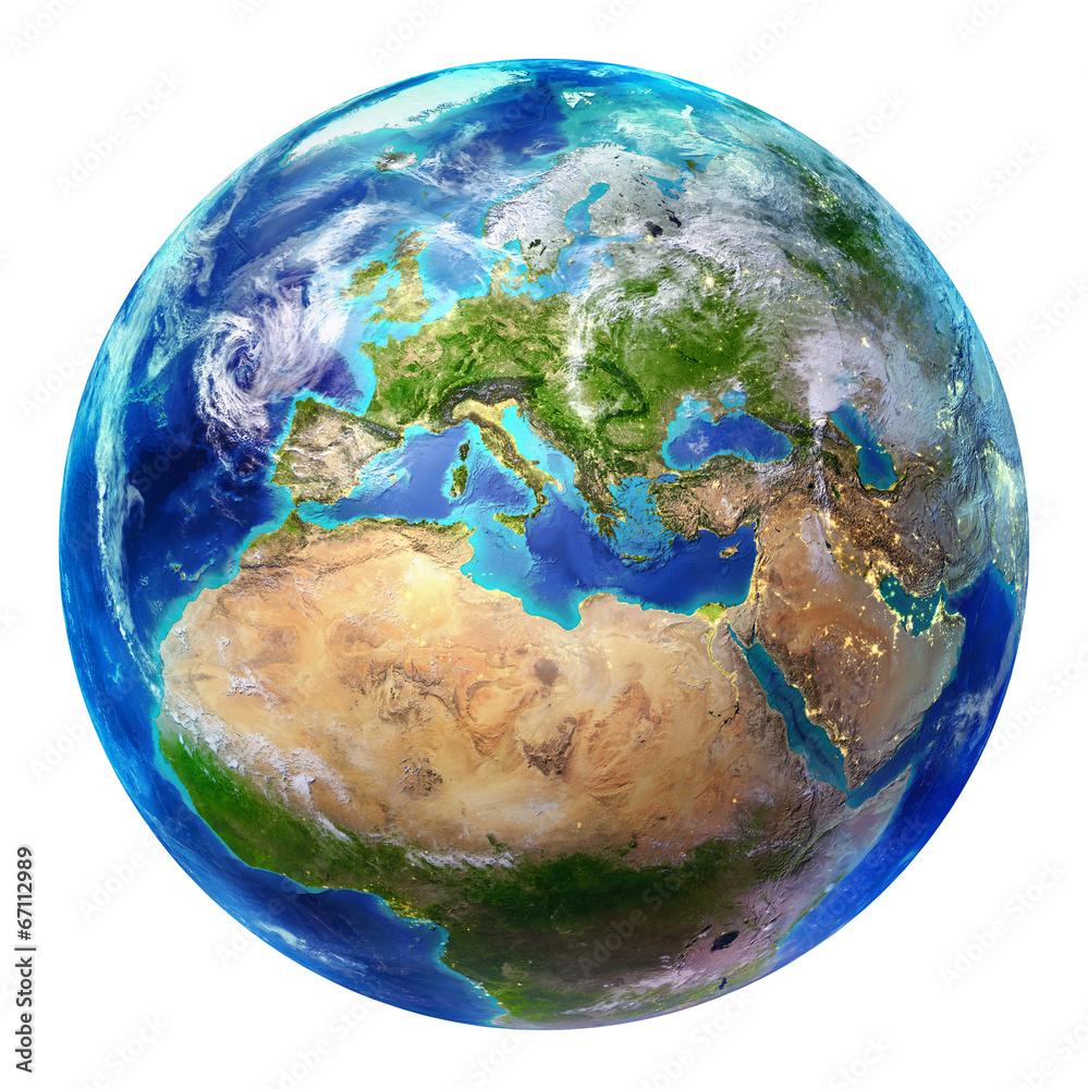Fotografie, Obraz earth Europe - isolated