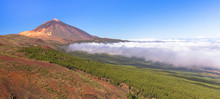 The Teide Volcano And Orotava Valley Surrounded By Clouds