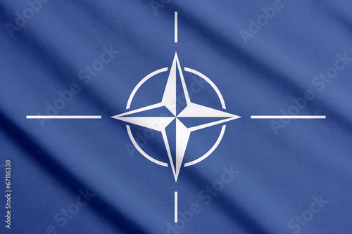 Photo  Flag of NATO waving