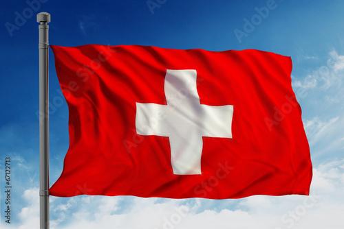 Spoed Foto op Canvas Canada Flag of swiss