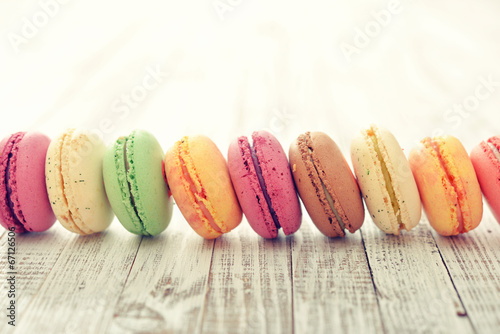 Poster Macarons Different kinds of macaroons