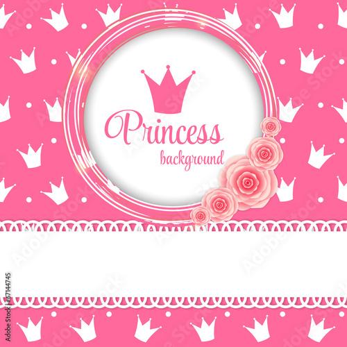 Fotografie, Obraz  Princess Crown Background Vector Illustration.