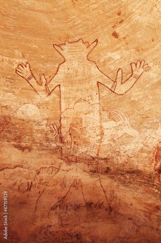 Poster Algérie Rock paintings of Tassili N'Ajjer, Algeria