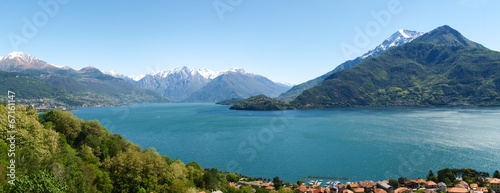 Aluminium Prints Cathedral Cove Panorama of the Lake of Como from the Mountains