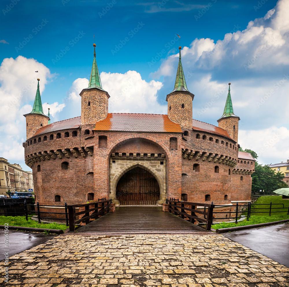 Fototapety, obrazy: Kraków - zabytkowe centrum Polski, Barbakan