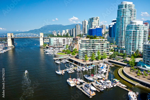 Fototapeta Beautiful view of Vancouver, British Columbia, Canada obraz