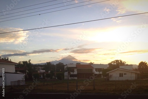 Fototapety, obrazy: sunrise popocatepetl