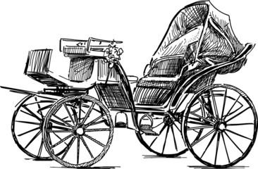 Fototapeta na wymiar old horse carriage