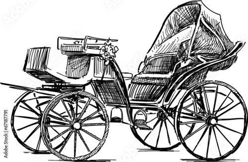 Fotomural old horse carriage
