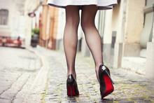 Sexy Legs In Black High Heel S...