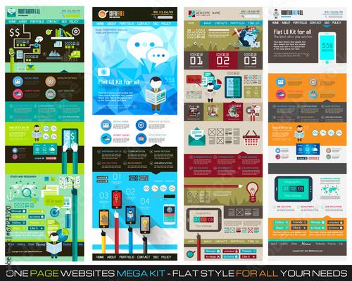 One page website flat ui design template set 1 buy this stock one page website flat ui design template set 1 maxwellsz