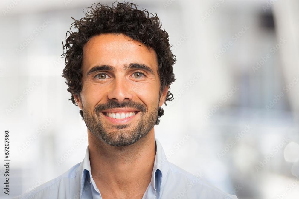 Fototapeta Smiling man portrait