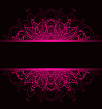 Background With Pink Ornament