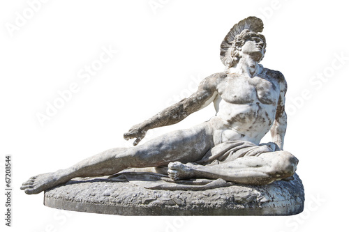 Sculpture of dying Achilles in the Achilleion in Corfu Wallpaper Mural