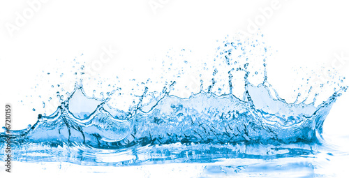 Photo sur Aluminium Eau blue water splash