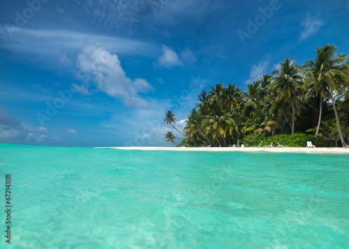 Canvas Prints Green coral Perfect tropical island paradise beach