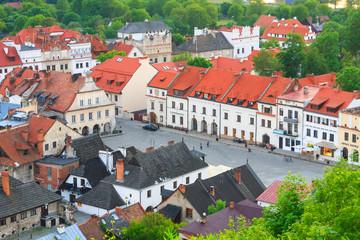 Obraz na Szkleaerial view, Kazimierz Dolny, Poland